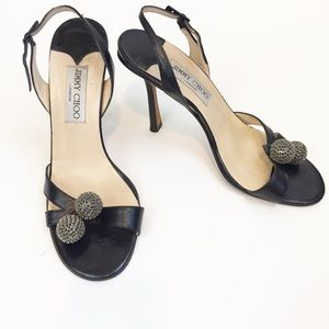 Jimmy Choo Crystal Ball Stiletto Heels size 38.5